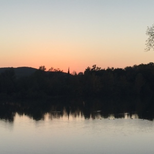sunsetrhoneriver