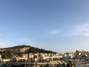 athens morning view